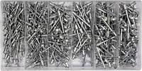 YATO Заклепки алюмінієві  Ø= 2,4; 3,2; 4,0; 4,8 мм, l= 6.4 мм, компл 400 шт.