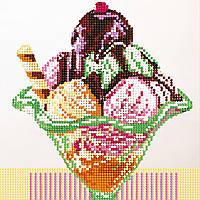 "Схема для вышивки бисером ""Мороженое"", 17х17 см"
