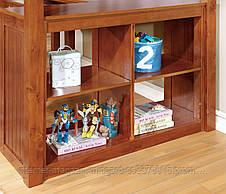 Двухярусная кровать-чердак Магнат (стол, комод, стеллаж) массив, фото 3