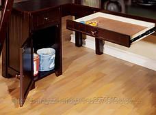 Двухярусная кровать-чердак Магнат (стол, комод, стеллаж) массив, фото 2