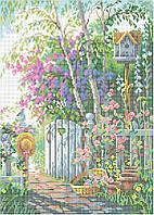 Схема для вышивки бисером Весенний сад КМР 3112