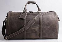 Кожаная дорожная сумка TIDING BAG X1019-1 коричневая