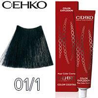 C:EHKO Крем-краска для волос Color Explosion Тон №01/1 сине черный
