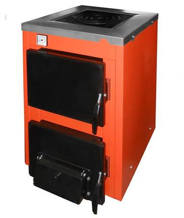 Твердотопливный котел ТермоБар АКТВ-12 с плитой, фото 2