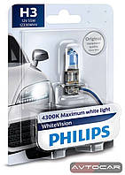 Philips WhiteVision / тип лампы H3 / комплект 2шт.