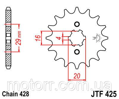 Звезда передняя JT JTF425.15