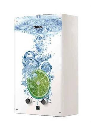 Газовая колонка Zanussi GWH 10 Fonte Glass Lime, фото 2