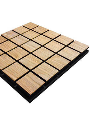 Звукопоглощающая акустическая панель «Grid 50» (50*50 см). Светлая, фото 2