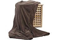 Плед бамбуковый двухспальный 180*200 шоколадный