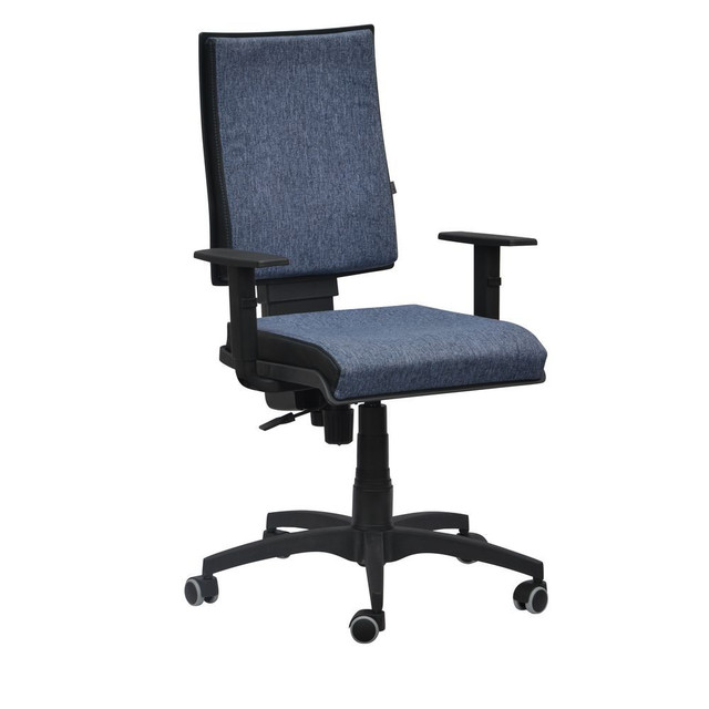 Кресло Спейс FS HB Papermoon (Пайпермун)-052 голубой/боковины Неаполь-20 чёрный.