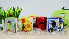 Кольорові чашки з фото