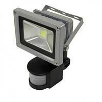 Светодиодный прожектор LEDEX 10W COB 800Lm IP65 6000K с датчиком движения, фото 1