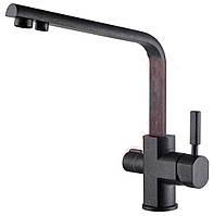 Смеситель под фильтр для кухни KAISER Decor Black Metallic 40144-2
