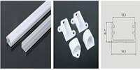 Профиль LEDEX для LED ленты накладной 1м (П-образный 6*15мм) алюминий + пласт.рассеиватель
