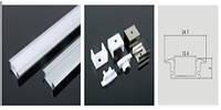 Профиль LEDEX для LED ленты встраиваемый 1м (Т-образный 25мм) алюминий + пласт.рассеиватель