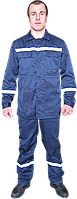 Костюм рабочий сигнальный с свп полосами куртка и брюки