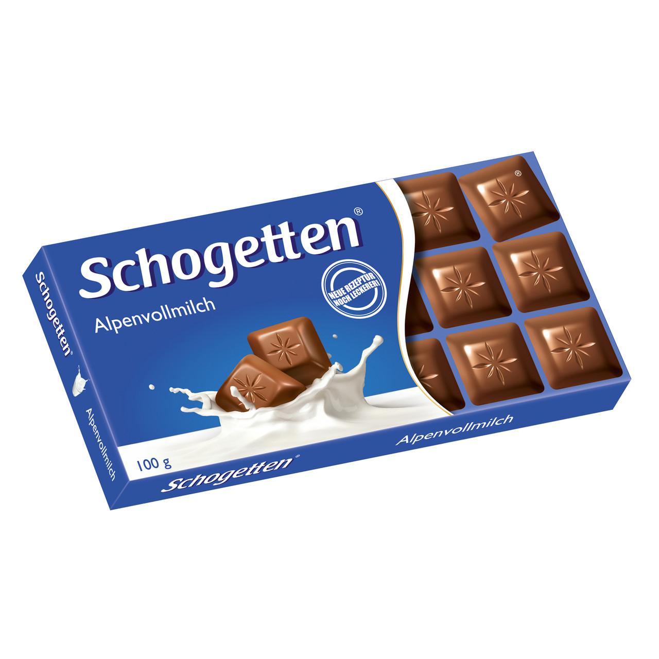 Шоколад Schogetten Alpine Milk Chocolate 100 гр.
