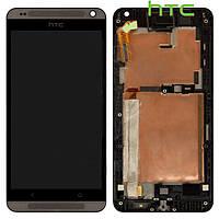 Дисплейный модуль (дисплей + сенсор) для HTC Desire 700 Dual Sim, с рамкой, черный, оригинал