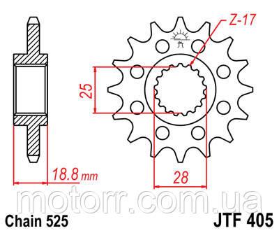 Звезда передняя JT JTF405.20