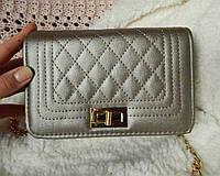 Мини-сумочка в стиле Chanel золотисто-бежевая