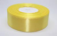 Лента атласная 2,5 см, светло-желтая №15