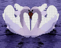 Схема для вышивки бисером Пара лебедей КМР 3126