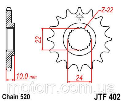 Звезда передняя JT JTF402.16