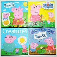 """Бумага для заметок в ламинированной картонной обложке """"Свинка Пеппа """", 70 листов"""