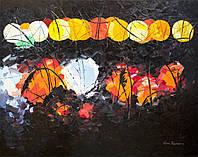 """Картина маслом на холсте """"Ночные огни"""" (70х90), художница Виктория Разнатовская, оригинал"""