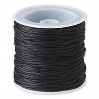 Шнур вощёный чёрный  3303  1 мм х 1 м