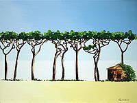 """Картина маслом на холсте """"Римский парк"""" (60х80), художница Виктория Разнатовская, оригинал"""