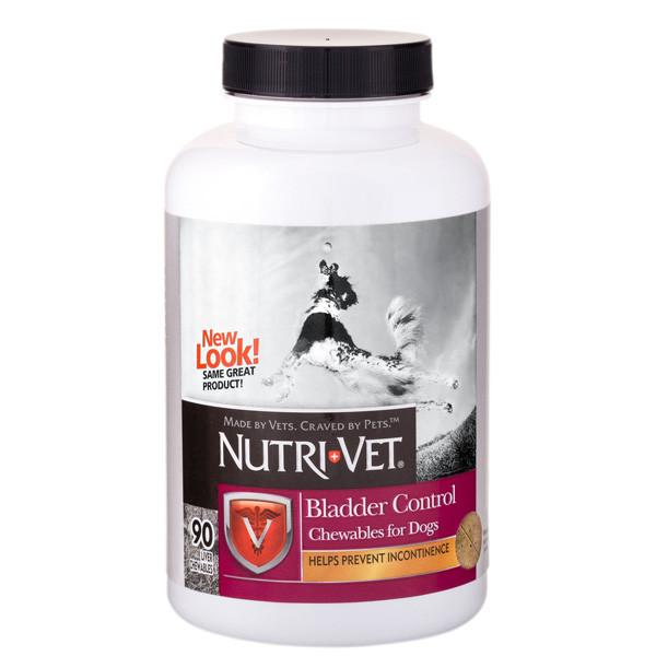 Витамины Nutri-Vet Bladder Control НУТРИ-ВЕТ КОНТРОЛЬ МОЧЕВОГО ПУЗЫРЯ для собак от недержания мочи, 90 табл