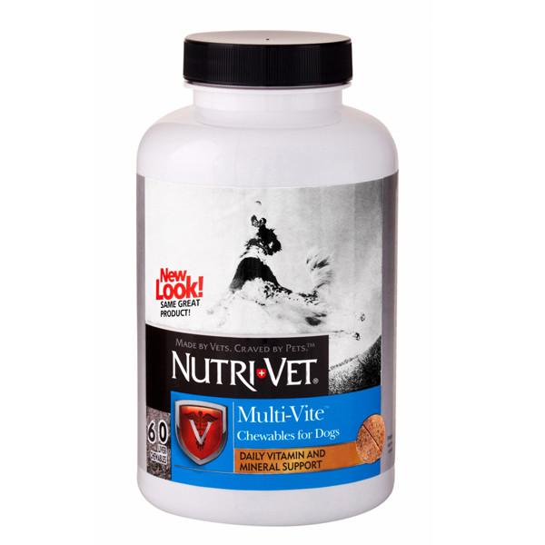 Витамины Nutri-Vet Multi-Vite НУТРИ-ВЕТ МУЛЬТИ-ВИТ для собак, жевательные таблетки 60 шт