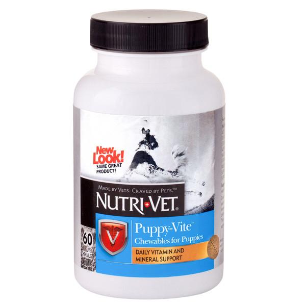 Витамины Nutri-Vet Puppy-Vite НУТРИ-ВЕТ ПАППИ-ВИТ для щенков до 9 месяцев, 60 табл.