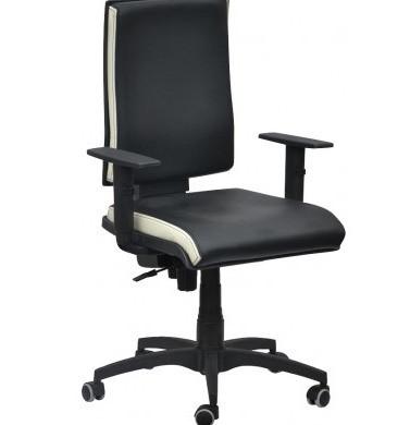 Кресло Спейс FS HB Неаполь-20 чёрный/боковины Неаполь-50 белый.