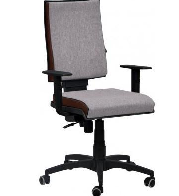 Кресло Спейс механизм FS HB Papermoon-031 серый/боковины Неаполь-08 бордовый.
