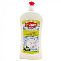 Средство для мытья посуды Helper 500 г, Зеленый лимон