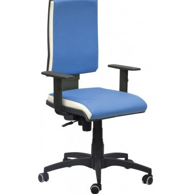 Кресло Спейс механизм FS HB Неаполь-06 голубой/боковины Неаполь-50 белый.