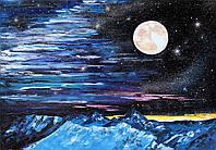 """Картина маслом на холсте """"Разговор с Луной"""" (70х100), художница Виктория Разнатовская, оригинал"""