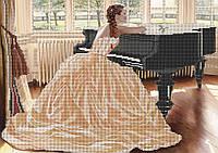 Схема для вышивки бисером За роялем КМР 3135