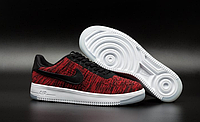 Кроссовки Nike Air Force 1 Flyknit low (red/black/white) - 41Z мужские