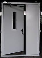 Двери двустворчатые противопожарные ( с порогом и без)