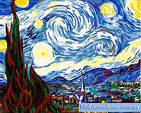 Картина по номерам Ночь.Ван Гог 40*50 см 124