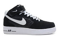 Кроссовки  Nike Air Force 1 high (black/white) - 08Z мужские