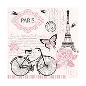 Декупажная салфетка Прогулка на велосипеде 33*33 см SLOG036401