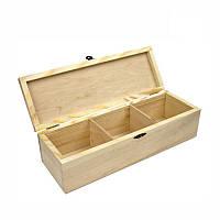 Шкатулка деревянная 3 секции Шебби-шик Rosa Talent