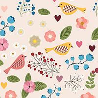 Бумага Цветы и птицы, А4, 250 г/м