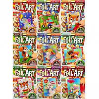 Аппликация цветной фольгой Foil Art