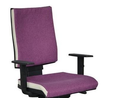 Кресло Спейс FS HB Papermoom-014фиалковый/боковины Неаполь-50 белый.
