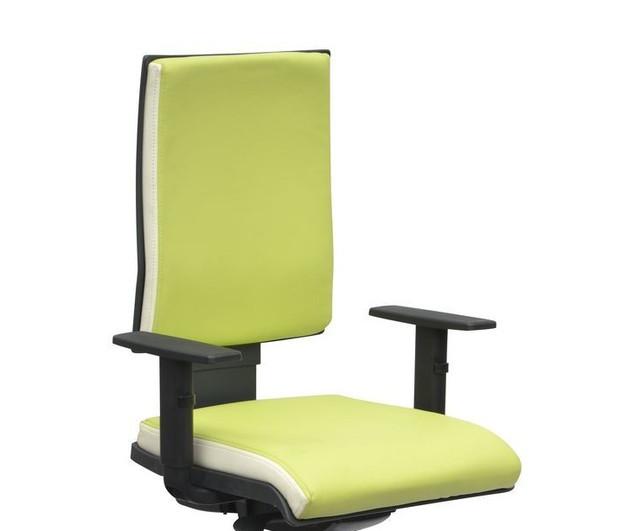 Кресло Спейс механизм FS HB Неаполь-34 салатовый/боковины Неаполь-50 белый.